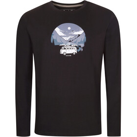 Elkline Far Away Langærmet T-shirt Herrer, black/vw